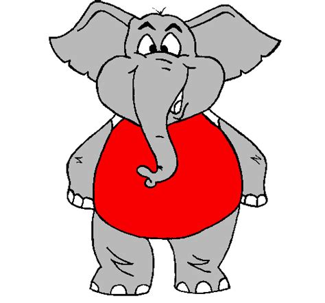 alabama elephant coloring page colored page happy elephant painted by big al