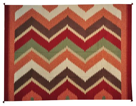 colorful woven 9 x12 navajo design flat weave 100
