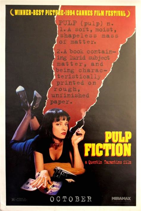 film quentin tarantino pulp fiction unknown original vintage movie poster for the award