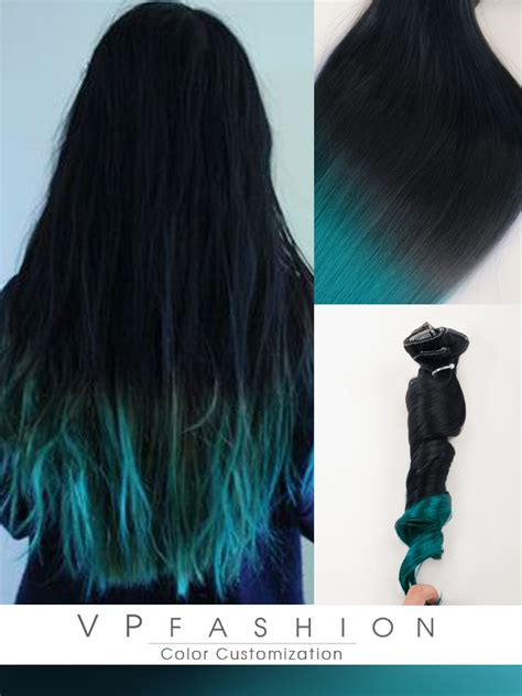 how to dye in hair extensions top 5 black brown hair extensions with blue tips on