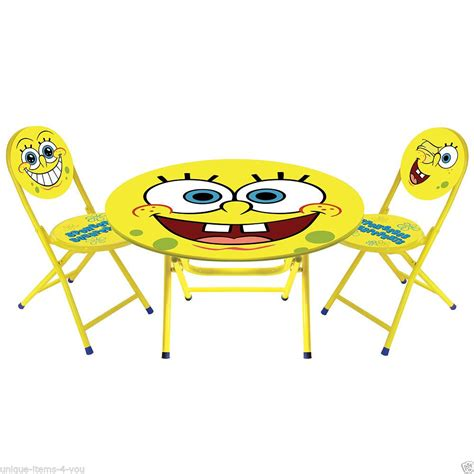 spongebob activity table and chair set spongebob lookup beforebuying
