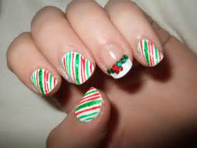 oooooh pretty christmas nails candy cane nails