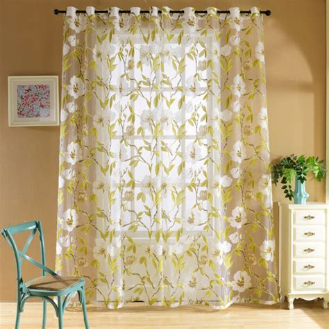 fancy sheer curtains fancy home window curtain valance tulle floral voile drape