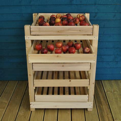 wooden apple storage rack   drawers  garden