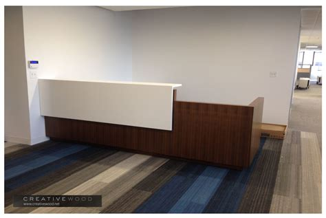 Reception Desk Materials Reception Creative Wood