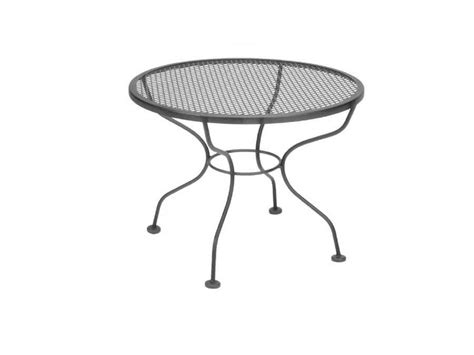 wrought iron patio coffee table meadowcraft wrought iron 24 micro mesh cocktail