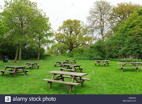 picnic tables park benches at ferry country park