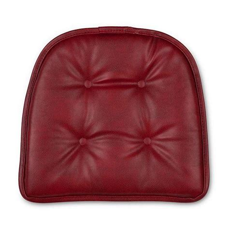 non tufted chair cushions set of 2 16x15 faux leather tufted kitchen chair pads