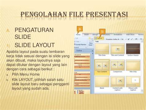 pengaturan layout presentasi kkpi powerpoint