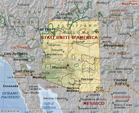 grand mappa geografica arizona cartina geografica tiesby nelson