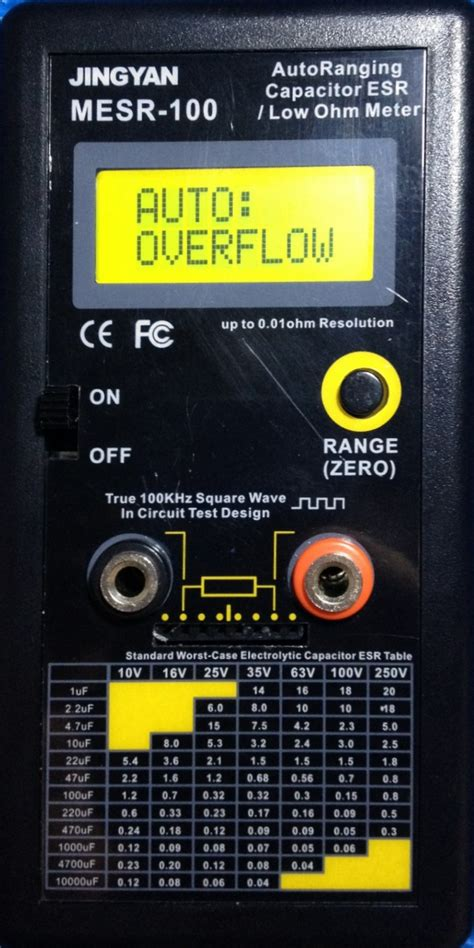 capacitor esr readings capacitor esr readings 28 images auto range in circuit esr capacitor meter tester up to 0