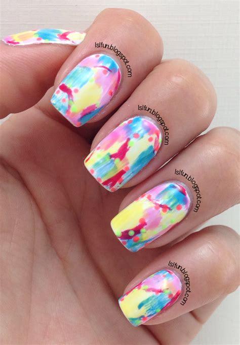 easy nail art with gelish lsl s fun blog dry brush nail art technique using gel