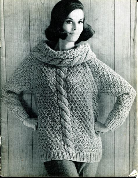 retro jumper knitting patterns vintage chunky sweater republic