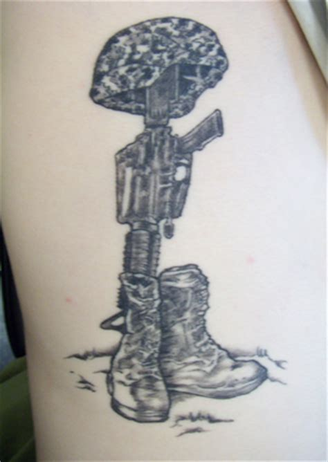 battlefield cross tattoo fallen soldier drawing pictures to pin on