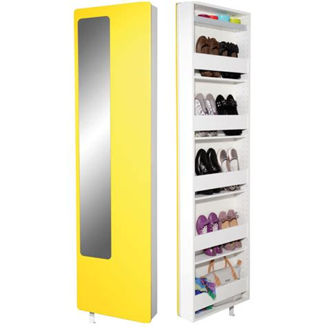 rotating shoe storage with mirror spin rotating yellow shoe storage with mirror 20069