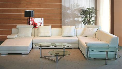 3334 white ultra modern sectional sofa