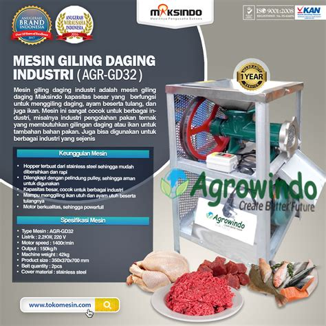 Jual Daging jual mesin giling daging industri agr gd32 di tangerang