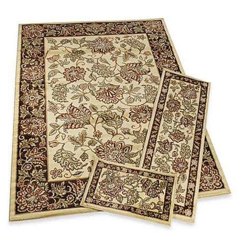 rugs bed bath and beyond nova jacobean rug set of 3 bed bath beyond