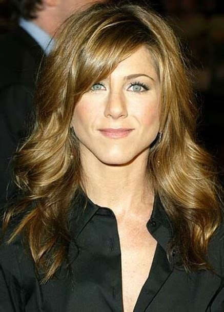jennifer aniston side bangs jennifer aniston long curly hairstyle with bangs