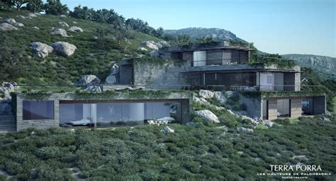 Mountainside House Plans corsican mountain view villas visualized