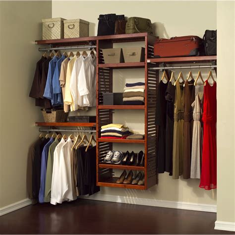 closet organization john louis home 16 quot deluxe closet system honey maple