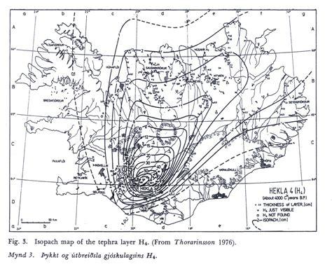 isopach map a taste of hekla volcan01010