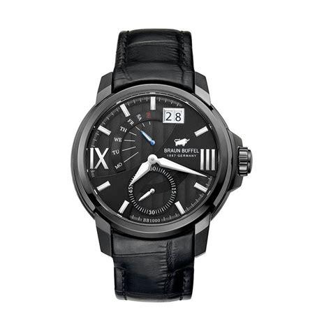 jual braun buffel jam tangan pria black bb1000 1739