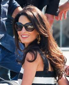 is amal clooney hair one length top 9 pictures of amal clooney without makeup styles at life