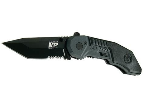 smith wesson m p folding pocket knife 2 875 serrated