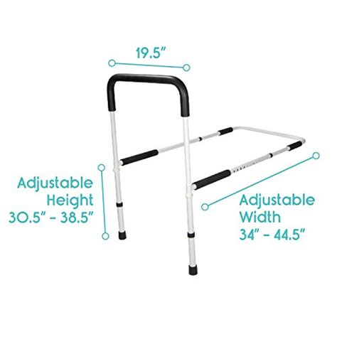 bed rail by vive best bed assist bar for adults seniors elderly handicap adjustable