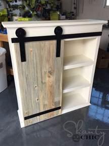 How To Build Cabinet Door Diy Sliding Barn Door Bathroom Cabinet Shanty 2 Chic