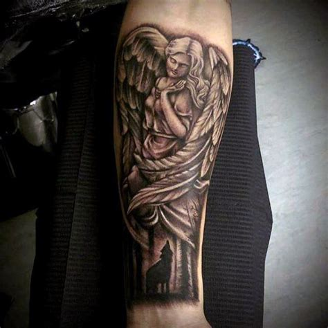 guardian tattoo full body beautiful wings guardian angel and screaming fox tattoo