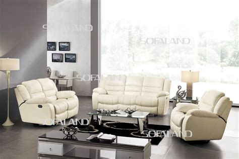2 sofas in living room china living room furniture recliner leather sofa 801