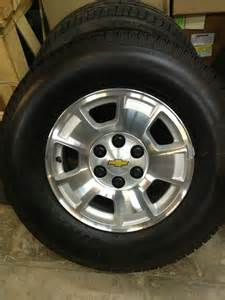 Chevy Truck Wheels And Tires Packages 2008 2013 Chevrolet Aluminum 17 Quot Wheel And Tire Package Gm