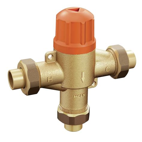 sink mixing valve moen commercial thermostatic mixing valve 104465 supply com