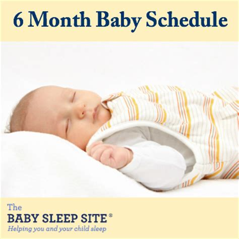 6 month baby schedule | the baby sleep site baby