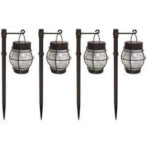 Home Depot Landscaping Lights Malibu Daybreak Led Solar Pathway Lights 4 Pack
