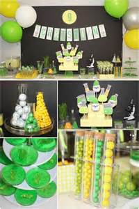 mad science themed 9th birthday spaceships and