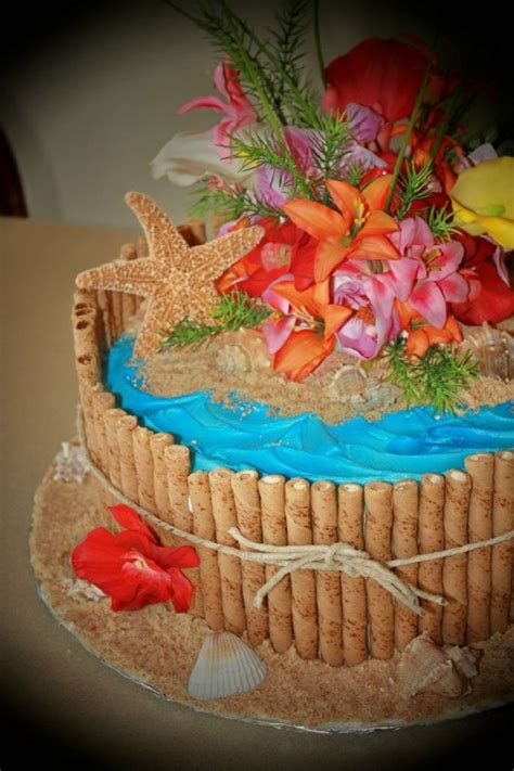 hawaiian birthday party creative cake ideas pinterest