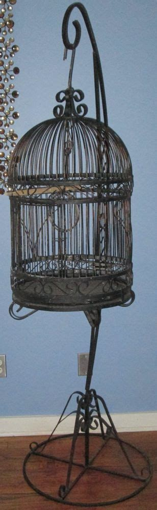 large black decorative bird cages vintage wrought iron bird cage birdcage with stand 6ft