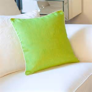 Lime Green Cushions Lime Green Cushion Cover With White Piping By Jodie