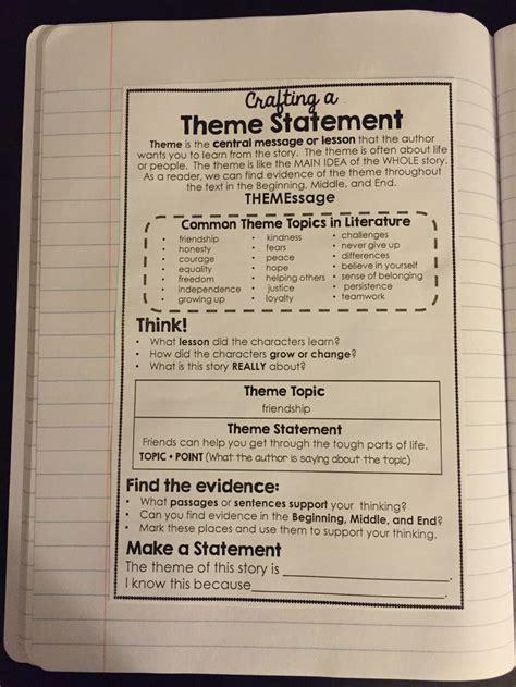 theme essay grade 6 thematic essay lesson plan