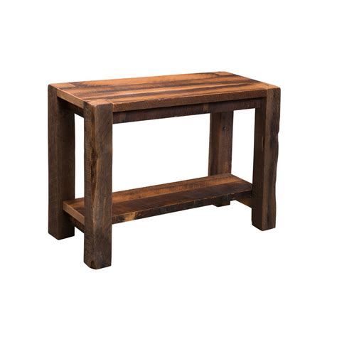barnwood sofa table barnwood timber ridge sofa table amish crafted furniture