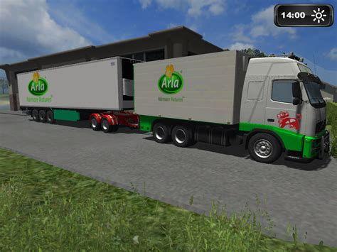 mod game uk truck simulator arla truck and trailer pack v1 0 mod download fs mods at