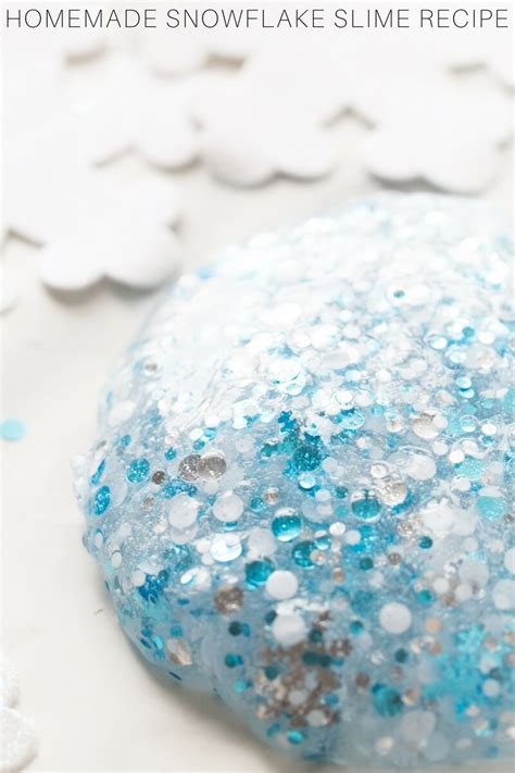 make snowflake slime recipe with