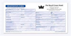 hotel registration card sle