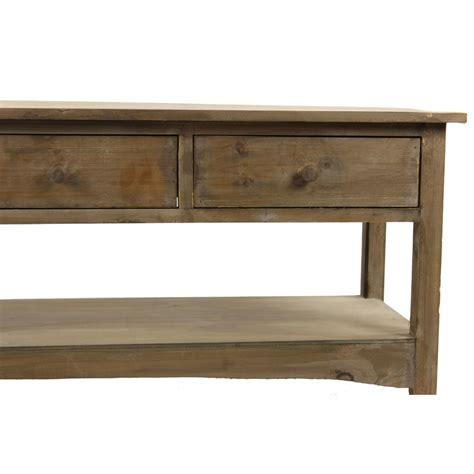 meuble console bois 3 tiroirs 110x38x45cm