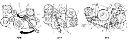 diagram for serpentine belt for j24b suzuki forums
