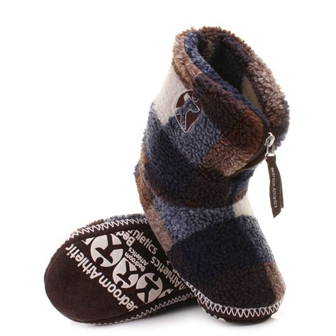 Bedroom Athletics Slipper Boots Mens Mens Bedroom Athletics Mcqueen Navy Choc White Fleece