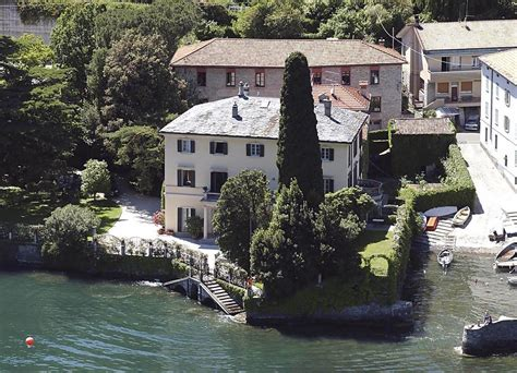 george clooney lake como celebrity homes lonny